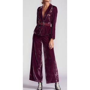 FREE PEOPLE Perfect Illusion Velvet Suit size 4